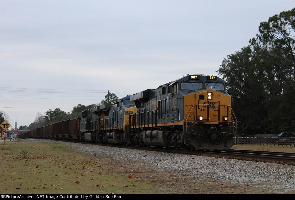 CSX 987 leads the N013