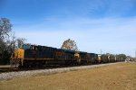 CSX 3062 leads the Q455-02 w/ lots of AC powers