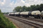 A line of tankers heads out of Inman yard