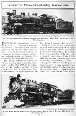 PRSL Locomotive Roster, Page 57, 1941