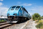 Tri-Rail 827 pushes its train north