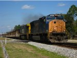 CSX 4767 leads a coal train south