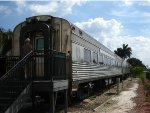 Passenger cars on display at the Boca Raton Express Train Museum