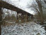 looking at UP bridge where crosses creek