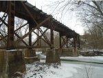 closer look at UP bridge where crosses creek