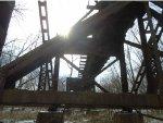 walking under UP Bridge