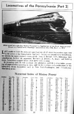PRR Locomotive Roster, Page 50, AUG 1941