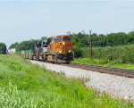 BNSF 7357, NS 1093 and 8854