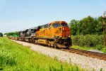 BNSF 7357, NS 1093 and 8854 (2)