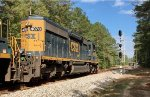 CSX SD40-3 4078 gets the green with a NB local