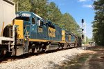 CSX 2335 runs third and passes the red signal