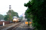 NJT 4029 slows for the station to let off a large group of passengers.