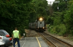 NJT 4112 running long hood forward takes the MN OCS train east to pascack junction.