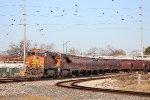 BNSF 4838 leads SB grain train at Tower 26
