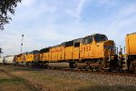 UP 3992 (ex-SP SD70M) trails 3rd out on the MFWEW-18