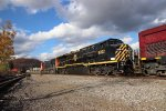 Ex CSX AC6000 with fresh WNY&P Paint in Olean NY.