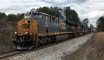 After rolling into Fairburn yard, CSX 927, 3405, 1703, 6897, 2325, and 6433