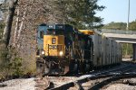 CSX SD40-3 4046 pauses while working the southern end of the yard
