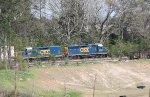 CSX GP40-2 6498 and mate 2319 work Fairburn yard