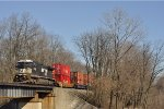 NS 8445 ExCon On NS 200 Westbound Going Over The Whitewater Bridge