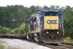 CSX C40-8 7632 prepares to head out