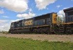 CSX SD70AC 4571 leads a trio of C40-8Ws