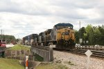CSX 143, 234, and 5241 wait on the bridge for green