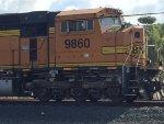 BNSF 9860 as rear DPU