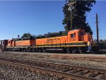 Two BNSF GP-39-3 doing local switching