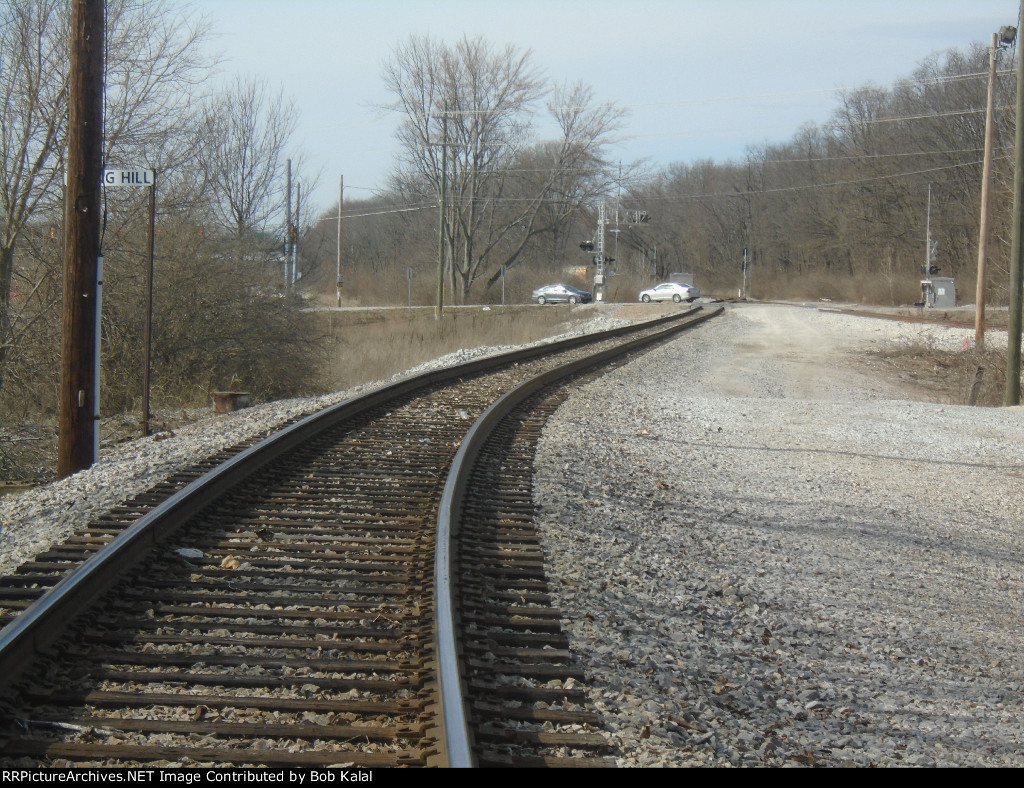 looking northwest at transfer track