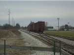 Indiana Railroad 3805 pulls up pass switchs