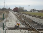 Indiana Railroad 3805 then backs towards yard