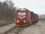 Indiana Railroad 3805 moving to outside track