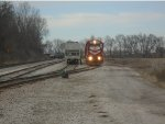 Indiana Railroad 3805 uncouples 2 Ibeam cars