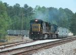 CSX 7603 departs the Florida Rock quarry