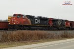 Oil empties wait on the siding for a southbound stacker