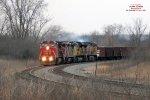Ballast train O490 growls up the hill