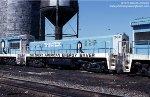Rock Island U33B/Slug set, The Great American Energy Saver, at Burr Oak Yard in Blue Island, Illinois - June 29, 1977. 284 was slugified from U25B 222.