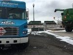 """ex BN units pass the Wild Alaskan Cod food truck """"On The Hook"""" stand in Powell, WY"""