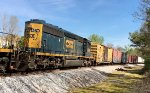 CSX SD40-3's 4287 and 4079 lead a SB local