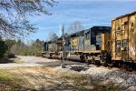 CSX SD40-3's 4287 and 4079 cross Valleywood Road with a SB local