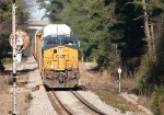 CSX ES44AC-H 3168 with an SD40-3 assist rushes SB