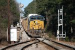 CSX ES44AC-H 3168 splits the signals