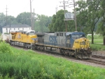 CSX 279 & UP 5307 heading north with an intermodal
