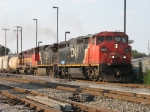 CN 2431 & 2695 along with WC 6497 start to pull south through B-12 with M336
