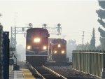 Metrolink 684 races a BNSF Intermodal Stacker