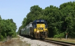 CSX 8144 leads a short local
