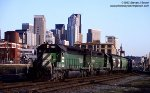 Burlington Northern SD40-2 7091 (built 1978 became NS 3465) in Seattle at the site of the future sculpture park - March 1993.