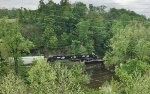 NS Train H75 crosses Bushkill Creek on infrequently-traversed ex-DL&W trackage