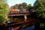"""L563 - """"the Woodtick"""" rolls over Hayden Creek on the former Milwaukee Road Valley Sub"""